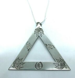 Antique Sterling Silver Masonic Royal Arch of Ancient Order of Druids Pendant