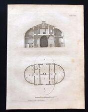 Antigüedad 1800 impresión arquitectónico constructores revista sección de establos LXI