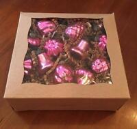 "Culturas Trading 12 Piece 1"" Mini Mercury Glass Christmas Ornaments Assorted Sha"
