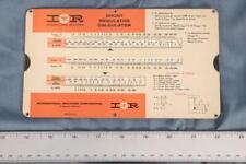 Vintage International Rectifier Shunt Regulator Slide Rule Calculator dq
