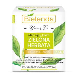 Bielenda Green Tea Mattifying Moisturising Day Cream for Acne Oily Skin 50ml