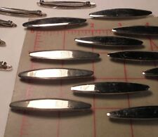 "2 Pieces Vintage Hair Barrettes Silver Colored Metal 2-1/2"""