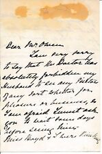 Nina Lloyd - autograph letter signed by the wife of diplomat Clifford Lloyd
