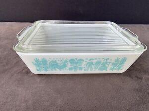 Vtg Pyrex Amish Butterprint Casserole Refrigerator Dish 1 1/2 Qt 503 & 503C Lid