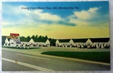 Linen Postcard Castle Court Motel Martinsville Virginia #249