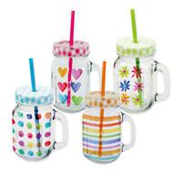 PPD Aquarell Mix Party Trinkglas 4er Set Partyglas Trinkbecher Trinkgläser Glas