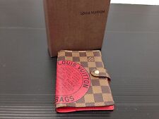 Auth Louis Vuitton Damier Agenda Day Planner Cover Trunks&Bags Edition 6C090400#