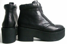 Ash quantum plataforma botines botas señora botín Zapatos Cuero talla 37 nuevo