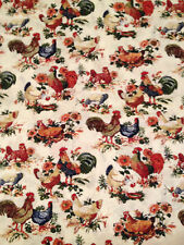 Roosters Chickens Farm Country Hens cotton Curtain Valance Window Handmade