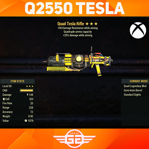 Quad Tesla Rifle - Quad 25 50 Tesla - Q/25/50 Tesla - Fallout76 [XBOX]