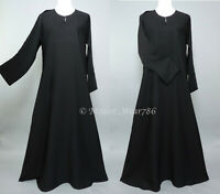 Dubai Abaya Classic Everyday Muslim Women Dress Nida Black