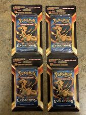 Pokemon XY Evolutions Charizard Booster Blister Pack With 5 Cards! Lot of 4