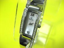 BULOVA 96T63 LADIES CASUAL WATCH S/S & CRYSTAL MOTHER OF PEARL DIAL ANALOG
