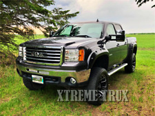 Textured Black 07-13 GMC SIERRA 1500 Pocket Rivet Fender Flares 6.5 8 ft Bed