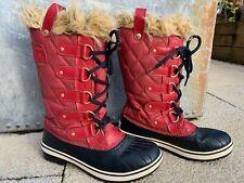 Sorel Tofino Red Winter Snow boots Size 5 uk
