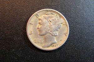 Mercury Dime 1927-d Silver XF/AU