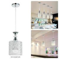 LED Ceiling Light Pendant Lamp Modern Dining Room Chandelier Decor Crystal Iron