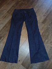 LEVEL 99 Women's Metallic Sparkle Wide Leg Flare Denim JEANS Size 27