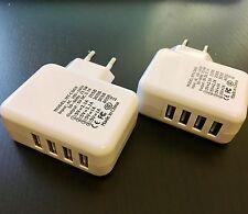 EF 2x 4 Fach Multi USB Hub Ladegerät Netzteil Adapter Uni für Handy Tablet U
