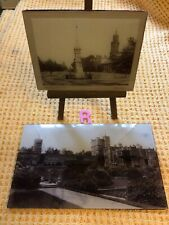 More details for pair of antique victorian ambrotype banbury cross and osmaston manor photos
