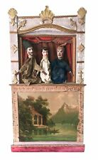 Antique Guignol Puppet Theater with 3 Original Puppets
