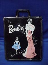 Vintage 1962 Barbie Doll PonyTail Carry Case Black Mattel Enchanted Evening