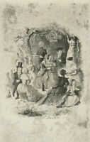 John Leech (1817-1864) - 20th Century Etching, The Picnic