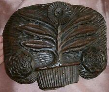 Fronton bois sculpté XVIIIème - Art Populaire - Fleur stylisées : Artichaut ?