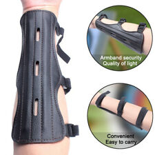 Archery Leather Protective Arm Guard Glove Bracer for Bow Hunting Shooting 6n