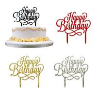 Acrylic Cake Toppers Happy Birthday Candle Party Supplies Cake Decoration