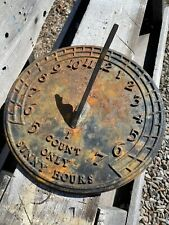 Vintage Virginia Metalcrafters Sundial ~ I Count Only Sunny Hours ~ Waynesboro
