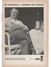 Pubblicità 1956 RE CARPANO GIORGIO DE CHIRICO advert werbung publicitè reklame