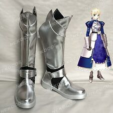 Fate Stay Night Fate Zero Saber Arturia Cosplay Shoes Boots Customized