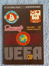 1990-Dnipro V coeurs programme-UEFA CUP 1ST ROUND