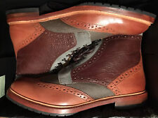Stacy Adams Madison II Wingtip Lace Canvas Leather Cognac 00075-229 Size 13 New
