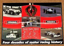 POSTER ORIGINALE FERODO F1 - 4 DECENNI DI STORIA MOTOR RACING 1953-1993