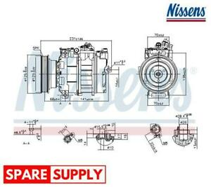 COMPRESSOR, AIR CONDITIONING FOR LAND ROVER MG ROVER NISSENS 89232