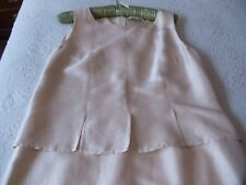 Pale Blush Silk PAULA KA Dress  EU42  US 8