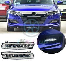 For Honda Accord 2018-2019 LED Fog Lamps Bumper Driving Lights o Assembly 2x