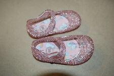 Baby Girls Gel Shoes Pink Glitter Mary Janes Unicorn Rainbow Insole Size 2