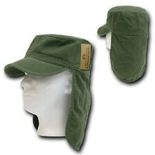 Olive Green Foreign Legion Fishing Boating Sun Protector Cap Caps Hat Hats S/M