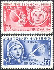 Rumania 1963 Tereshkova/Bykovsky/Mujer/vuelo espacial/astronautas 2 V Set (n42120)