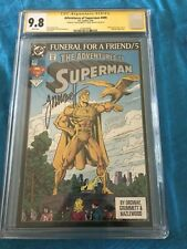 Adventures of Superman #499 - DC - CGC SS 9.8 NM/MT - Signed by Ordway, Grummett