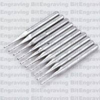 10x 1/8'' Carbide Double Two Flute Spiral Bit Router Endmill CED 1.0mm CEL 4mm
