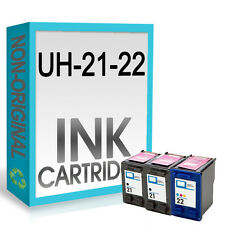 3 21XL Black 22XL INK Combo UCI Brand fits for hp Deskjet D2460