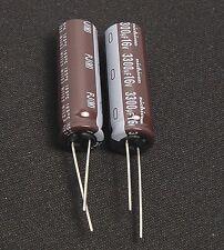 4pcs 3300uf 16v Radial Electrolytic Capacitor 16v3300uf Nichicon Low ESR JAPAN