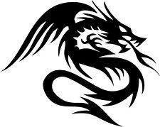Dragon Tribal Dragons Car Decal Window Sticker TRB004