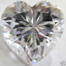 10 x 10 mm 4.00 ct HEART Cut Sim Diamond, Lab Diamond WITH LIFETIME WARRANTY