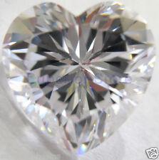10 x 10 mm 4.00 ct HEART Cut Sim Diamond, Lab Diamond WITH LIFETIME WARRANTY