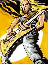 JAMES HETFIELD PRINT poster metallica master of puppets cd esp explorer guitar